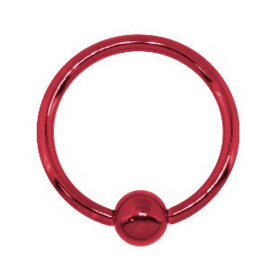 Red Surgical Steel Ball Closure Ring