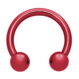Red Surgical Steel Circular Barbell
