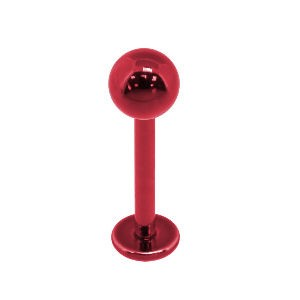 Red Surgical Steel Labret