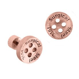 Rose Gold On Tragus Barbell