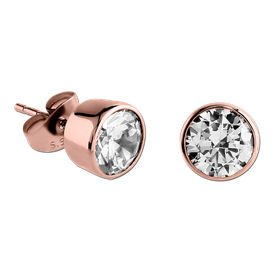 Rose Gold Crystal Jewelled Earrings