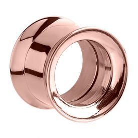 Rose Gold Double Flared Internally Threaded Tunnel