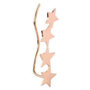 Rose Gold Surgical Steel Right Ear Climber - Stars