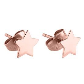 Rose Gold Surgical Steel Star Ear Studs