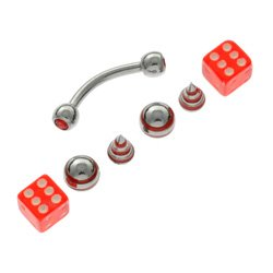Micro Bananabell & Threaded Accessories Bonus Pack - Red