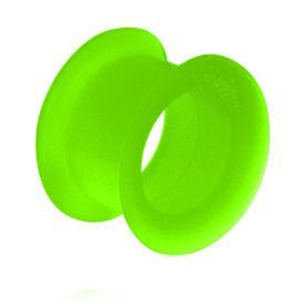 Silicone Flesh Tunnel - Green