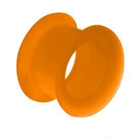 Silicone Flesh Tunnel - Orange