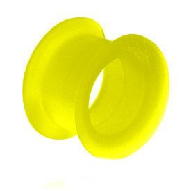 Silicone Flesh Tunnel - Yellow