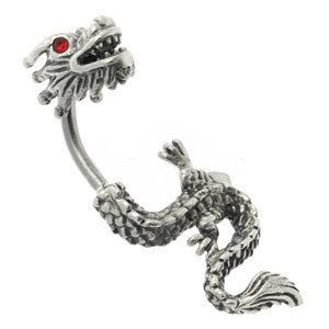shop for release info on good reputation Silver & Steel Belly Bar - Split Dragon- Buy Jewellery