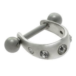Silver and Steel Mini Helix Cuff - Jewel Studs