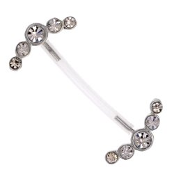 Silver and PTFE Nipple Barbell