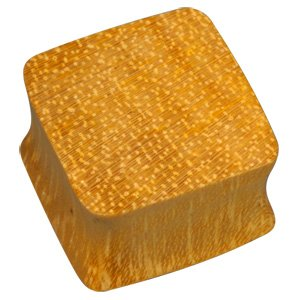 Square Wooden Flesh Plug - Jack Fruit Wood