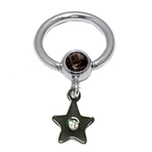 Star Jewelled BCR - Black