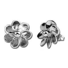 Steel Casting Flower Earrings