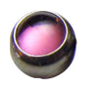 Steel Clip-in Smooth Jewelled Balls - Pink