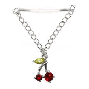 Sterling Silver & PTFE Nipple Chain - Cherries