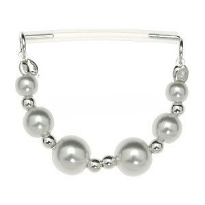 Sterling Silver & PTFE Nipple Chain - Pearls
