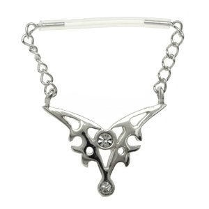 Sterling Silver & PTFE Nipple Chain - Tribal
