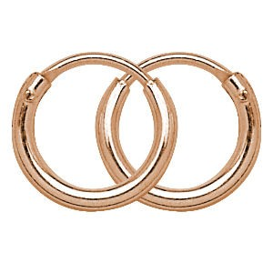 Sterling Silver Rose Gold Hoop Earrings