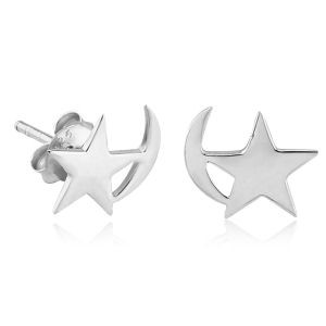 Silver Shooting Star Ear Studs