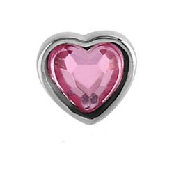 Surgical Steel Internally Threaded Attachment - Pink Heart