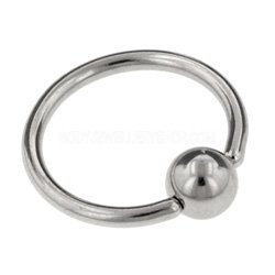 Surgical Steel Ball Closure Ring - 1.2mm