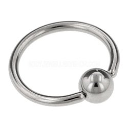 Surgical Steel Ball Closure Ring - 1mm
