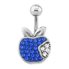 Surgical Steel Crystalline Jewelled Navel Bananabell