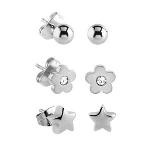 Surgical Steel Ear Studs Set
