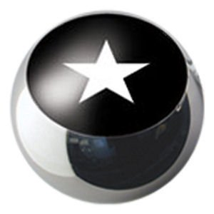 Surgical Steel Ikon Clip-In Ball - White Star on Black