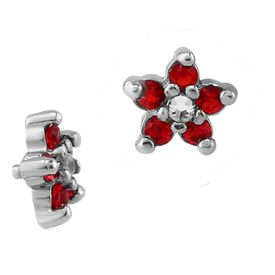 Surgical Steel Internally Threaded Jewelled Flower Accessory