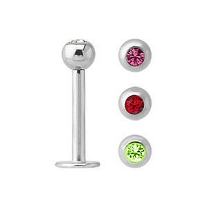 Jewelled Labret Piercings Set