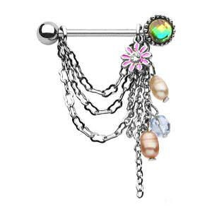 Surgical Steel Nipple Chain - Lucky Charms