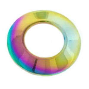 Surgical Steel Nipple Disc - Rainbow Plain