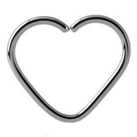 Surgical Steel Open Heart Continuous Ring