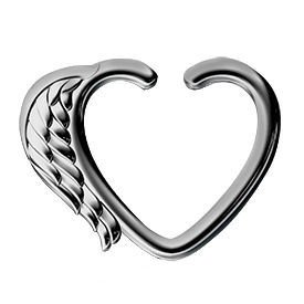 Surgical Steel Open Heart Seamless Ring