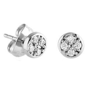 Surgical Steel Round Crystal Jewelled Ear Studs