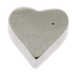 Surgical Steel Threaded Accessory - Heart