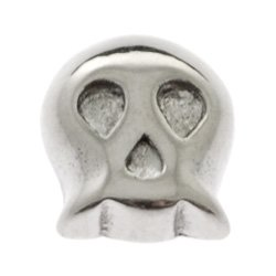 Surgical Steel Threaded Accessory - Skull