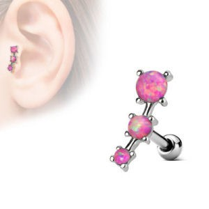Surgical Steel Tragus Cartilage Stud Opal Pink Buy Jewellery