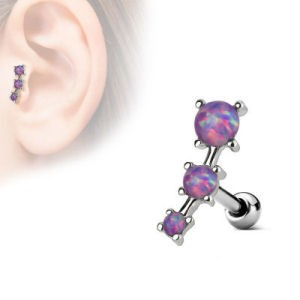 fcc27303b4035 Surgical Steel Tragus & Cartilage Stud - Opal Purple- Buy Jewellery