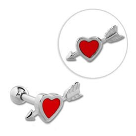 Surgical Steel Tragus Micro Barbell Stud- Cupids Arrow