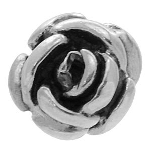 Threaded Sterling Silver Rose
