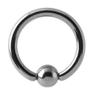 Titanium Ball Closure Ring (Large Gauge) - 4mm