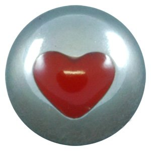 Titanium Threaded Opus Ball - Heart