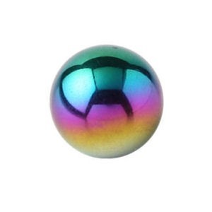 Titanium Threaded Ball - Rainbow
