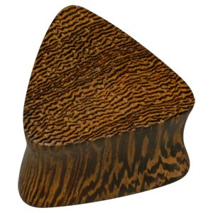 Triangular Wooden Flesh Plug - Parasite Wood
