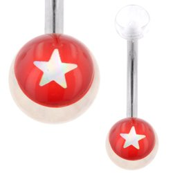 UV Belly Button Bar (Red Star)