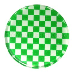 UV Chessboard Flesh Plug - Green