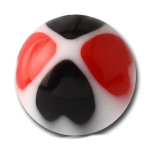 UV Heart Balls - Black and Red